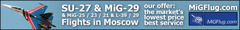 MiG and SU Flights over Moscow with www.migflug.ch